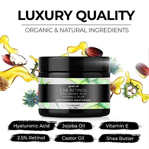 51AHgWhhLvL - Rich Retinol Cream - Top Influencer - Organic & Vegan - Luxury Quality Moisturizer for Face & Eye Packed with Organic Retinol, Vitamin E, Jojoba Oil, Hyaluronic Acid, Shea Butter, Organic Aloe & More.