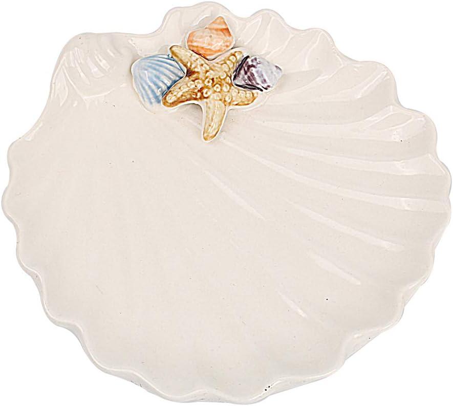 Hophen Sea Shell Trinket Jewelry Soap Tray Ring Holder Candy Dish Ashtray Table Decoration Mediterranean Ocean Style