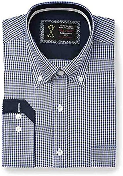 Camisa Manga Larga clásica, con Estampado de Cuadros pequeños de ...
