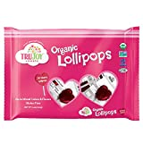 Wholesome Organic Heart Lollipops, 12 count