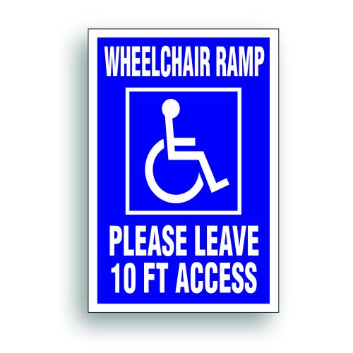 - Wheelchair Ramp 10 Ft Clearance For Handicapped Van, Bus, Vehicle with Disability Lift - 4 x6 inch (Promotional Van)