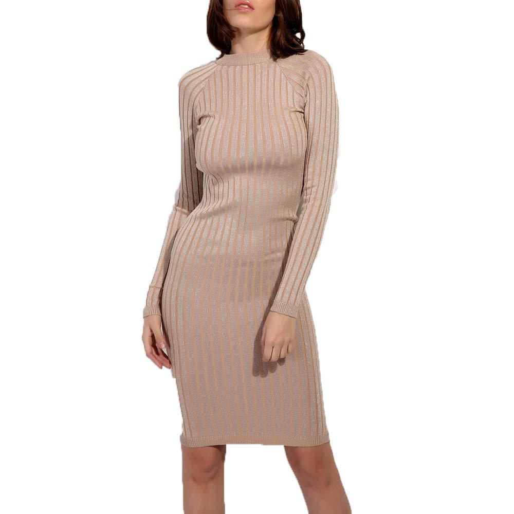 a1ab50b67f27 Women Slim Fit Ribbed Turtleneck Long Sleeve Maxi Knit Sweater Dress-Khaki  at Amazon Women s Clothing store