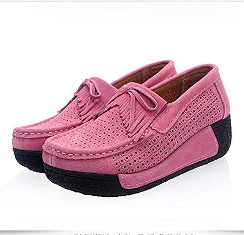US8 Casuale Traspirante UK6 Spesso Pink SHANGXIAN Scarpe Pink CN39 Semplice EU39 Cuneo Donna Fondo Scarpe Estate Moda U70gSfqw