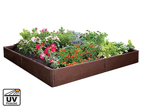 Plástico Raised - Cama de jardín para verduras, hierbas y flores ...