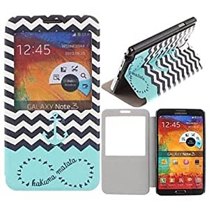 HJZ Samsung Galaxy Note 3 compatible Graphic/Special Design Plastic/PU Leather Full Body Cases/Cases with Stand