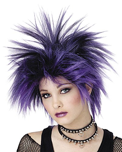 Wig Pink Red or Purple Punker Girl Punk Chic Color: Purple