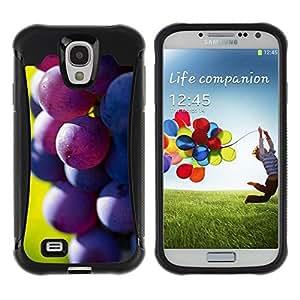 LASTONE PHONE CASE / Suave Silicona Caso Carcasa de Caucho Funda para Samsung Galaxy S4 I9500 / Fruit Macro Dark Grape