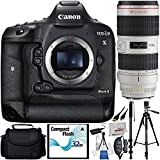 Canon EOS-1D X Mark II DSLR Camera Bundle with Canon EF 70-200mm f/2.8L is II USM Lens and Manufacturer Accessories (12 Items)