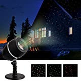 Star Shower Motion Christmas Laser Light - Magic Projector LED Light Party Holiday Stage Show Decoration IP65 Waterproof Outdoor Indoor Green and Red Star Light for Xmas Halloween Party Wedding and Ga
