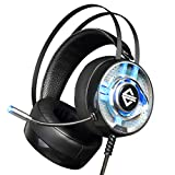 Dovewill Wired Backlight Gaming Headset Headphones W/ MIC Adjustable Over Ear for Laptop Computer