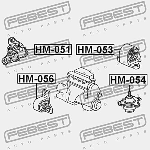 Febest: HM-054 HYDRO LEFT ENGINE MOUNT