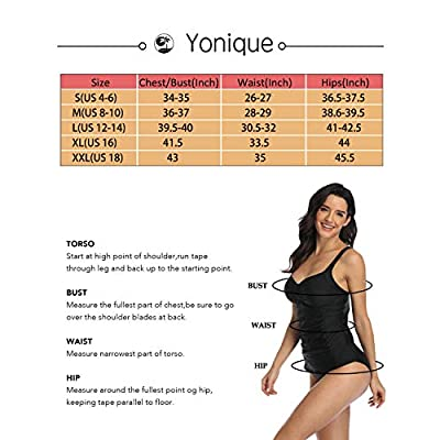 Yonique Women Halter Flyaway Bathing Suit 2 Piece High Neck Tankini Swimsuit Slimming Tankini Top: Clothing