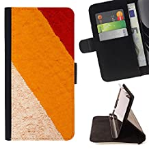 "BINGO - FOR Apple iPod Touch 6 6th Generation - ""Colored sands of cream - Leather Cover Case High Impact Absorption Case"