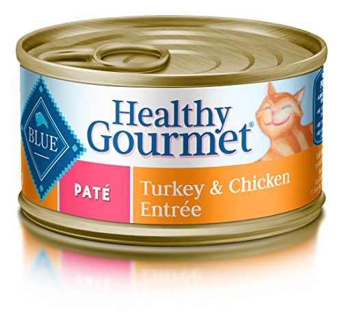 Blue Buffalo Healthy Gourmet Natural Adult Pate Wet Cat Food, Turkey & Chicken 5.5-oz cans (Pack of 24)