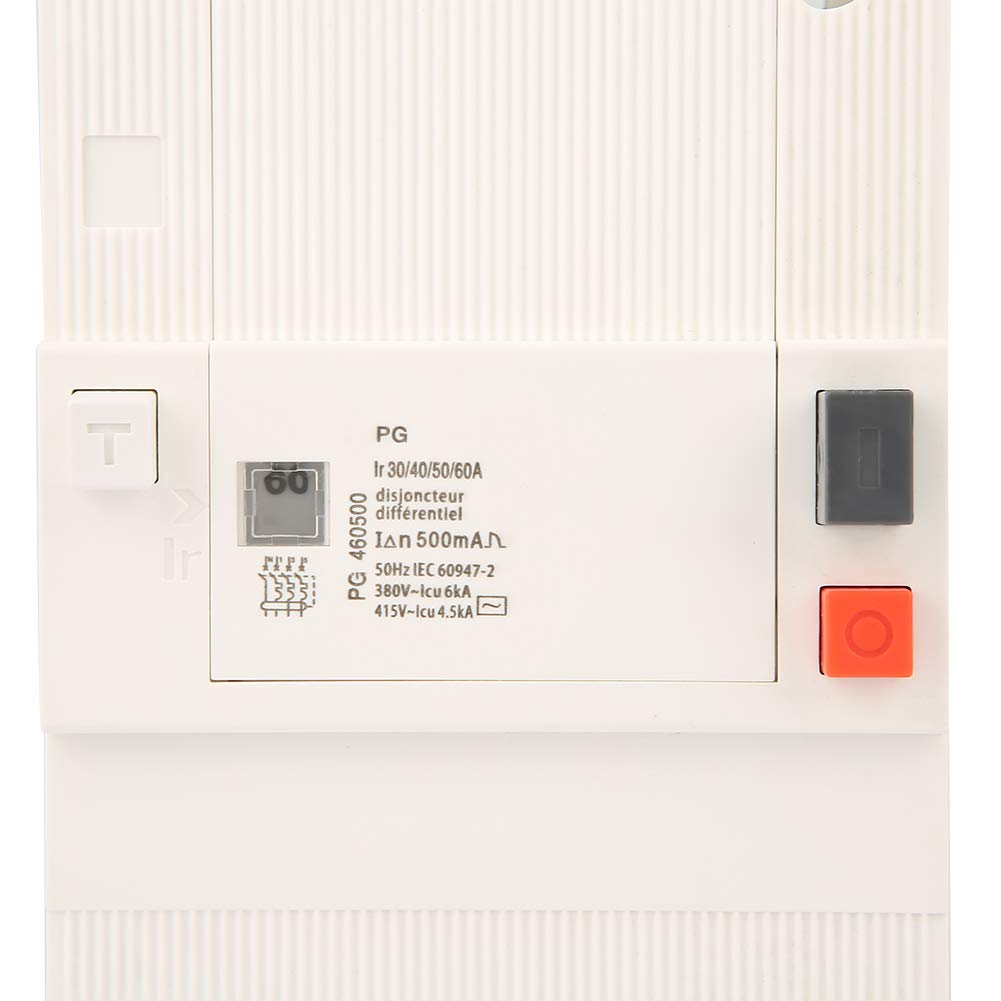 30-60A 4-Pole 50Hz//60Hz Low-Voltage Circuit Breaker Protection Air Switch for Industrial Home Impprovement Low-Voltage Circuit Breaker