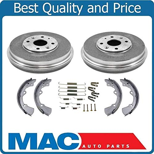 100% Brand New Rear Drums Brake Shoes Springs Kit Fits For Ford Escort 97-03 ()