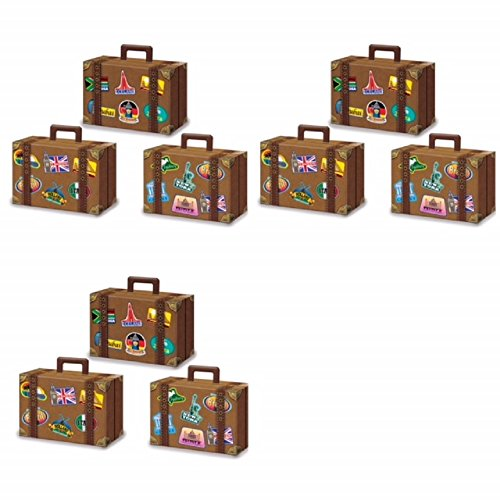 9 Large Luggage Favor Boxes 4