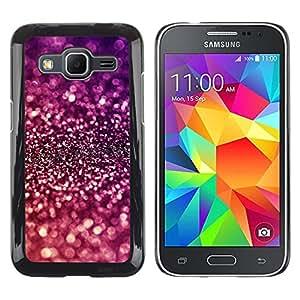 Be Good Phone Accessory // Dura Cáscara cubierta Protectora Caso Carcasa Funda de Protección para Samsung Galaxy Core Prime SM-G360 // Sparkle Purple Bright Reflective