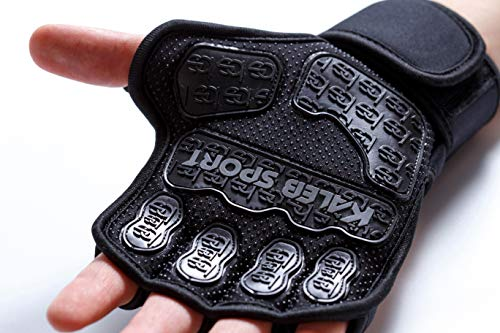 Weight Lifting Gloves - Men - Women - Cross Training Pull Up Workout - CrossFit Weightlifting WOD - Grip Guantes Para Gym Bodybuilding Calisthenics Pullup Bar - Kettlebell Deadlift Wrist Support Wraps