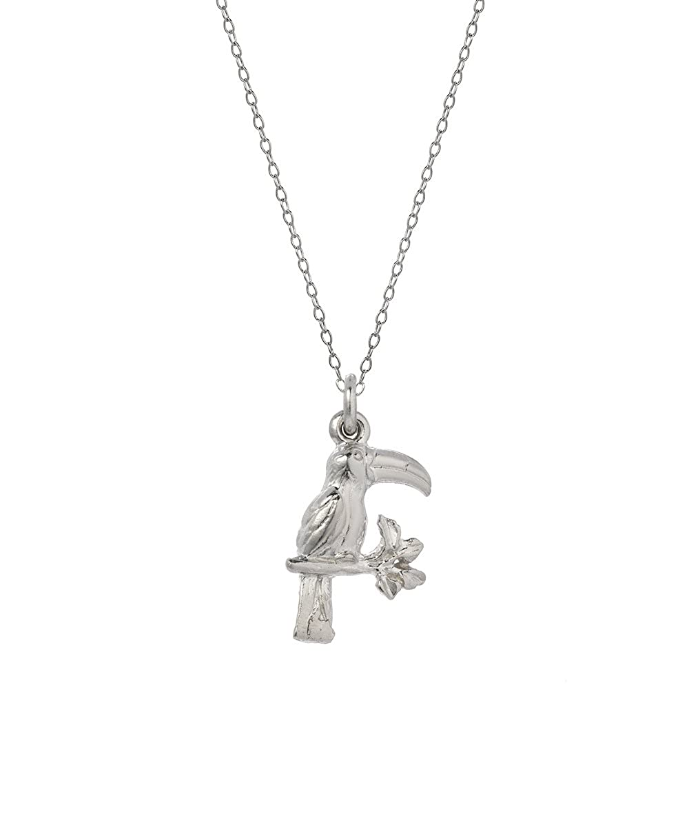 18 Sterling Silver Toucan Bird Pendant Necklace