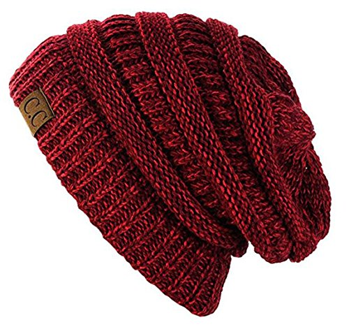 C.C Trendy Warm Chunky Soft Stretch Cable Knit Beanie