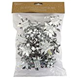 Christmas Metallic Plain and Holographic Gift Bows - Silver - Pack of 20
