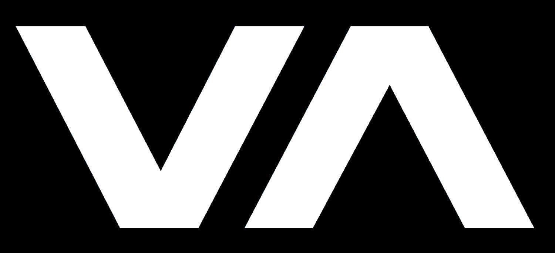 RVCA VA Car Window Vinyl Decal Sticker 6 Wide Color: White