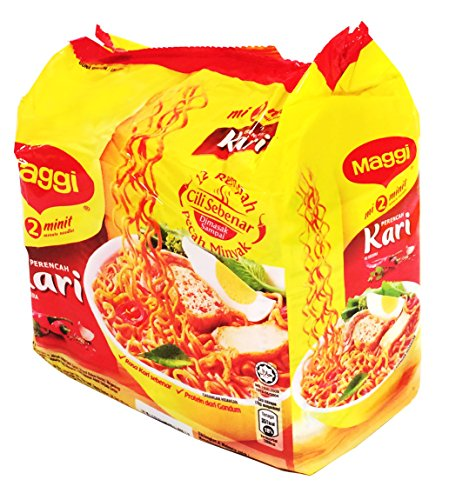 (Maggi 2 Minute Noodles Curry Flavour - 79g - Pack of 5)
