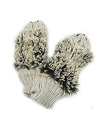 Women's Cartoon Hedgehog Winter Cotton Gloves Girls' Kid' Thick Mittens by Einfachheit (Grey)