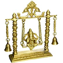 """Cultural HubJ92-2300-0089 Hindu Religious Gift and Home Decor from India (Ganpati Bappa On Swing 10"""")"""