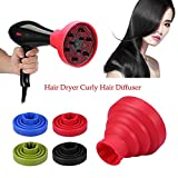 LAYOPO Foldable Hair Dryer Curly Hair Diffuser, Universal Hair Diffuser Adaptable, for Blow Dryers with 1.57 Inch to 2.6 Inch for Curly Or Wavy Hair