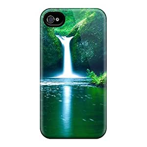 Protective Tpu Case With Fashion Design For Iphone 4/4s (waterfall)
