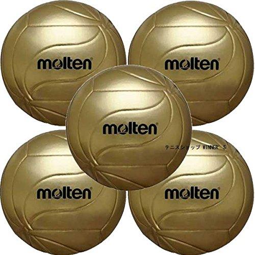 molten(モルテン) フリスタテック 記念ボール 5号 バレーボール 5個セット ゴールド V5M9500-5SET B00U2FLNNG