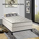 Continental Matress,Medium Firm Orthopedic 10'' Fully Assembled Pillow Top Mattresss and 5-inch Box Spring,  Full xl