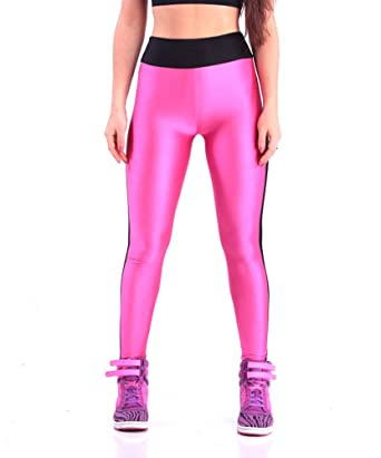 3c6c6e3070e71 YiYaYo Womens Stretch Skinny Shiny Spandex Yoga Leggings Workout Sports  Pants Pink S
