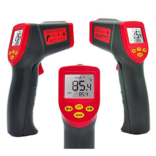 Price comparison product image Digital Infrared Non-Contact Thermometer,  Temperature Gun Digital Laser IR Thermometer With Temperature Alarm Function -32~530(-25.6~986), LCD Instant-read Handheld