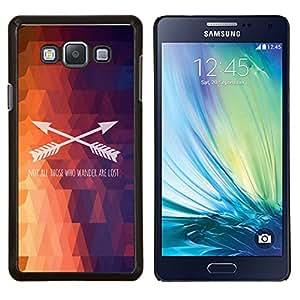 YiPhone /// Prima de resorte delgada de la cubierta del caso de Shell Armor - Polígono Flecha patrón texto fuego púrpura - Samsung Galaxy A7 A7000