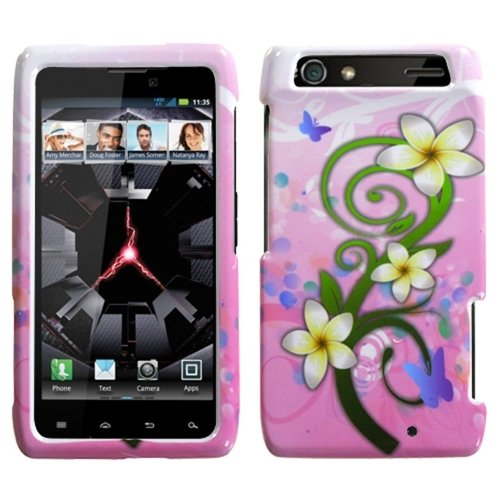 MYBAT MOTXT912HPCIM757NP Compact and Durable Protective Cover for MOtoROLA: XT912 (Droid Razr) - 1 Pack - Retail Packaging - Tropical Flowers