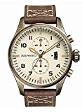 Szanto Men's SZ 4002 Szanto 4000 Series Analog Display Japanese Quartz Brown Watch