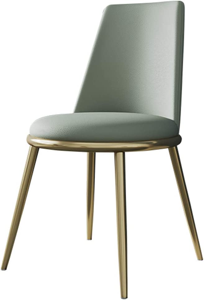 Modern Kitchen Dining Chair, Coffee Chair,Dressing Stool, Leisure Upholstered Chair,Washable PU Soft Cushion,with Strong Metal Legs,Reception Room Chair,for Home Kitchen Living Room Office,A-02