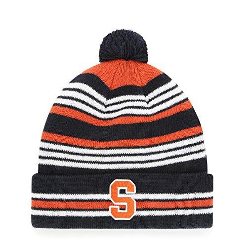 NCAA Syracuse Orange Rickshaw OTS Cuff Knit Cap with Pom, Navy, Youth