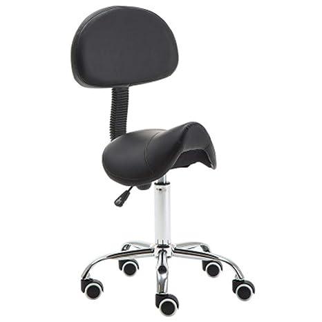 WANGXN Taburete con Respaldo para peluquería Manicura Terapia de ...