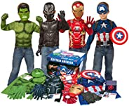 Imagine by Rubie's Marvel Avengers Play Trunk with Iron Man, Captain America, Hulk, Black Panther Costumes