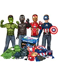 Marvel Avengers Play Trunk with Iron Man, Captain America, Hulk, Black Panther Costumes/Role Play Amazon Exclusive