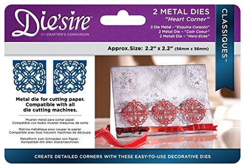 Diesire Classiques Craft Metal Corner Die Cutting Stencil - Heart Corner