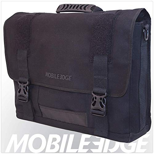 Mobile Edge Laptop Eco Messenger Eco-Friendly, 17.3 Inch Cotton Canvas Black for Men, Women, Business, Student MECME1