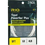 RIO Powerflex Plus Tapered Leader – 2-Pack One Color, 7.5ft/6X