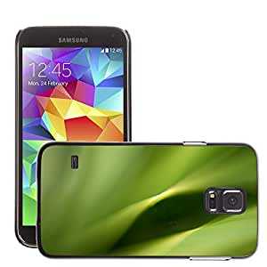 Etui Housse Coque de Protection Cover Rigide pour // M00151829 Verde Hoja Naturaleza Planta Natural // Samsung Galaxy S5 S V SV i9600 (Not Fits S5 ACTIVE)