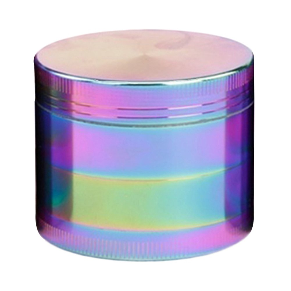 Bluelans® Rainbow Grinder, Colorful Tobacco Herb Grinder Mill Metal Aluminium Teeth Compact 40mm 4 Part (40mm)