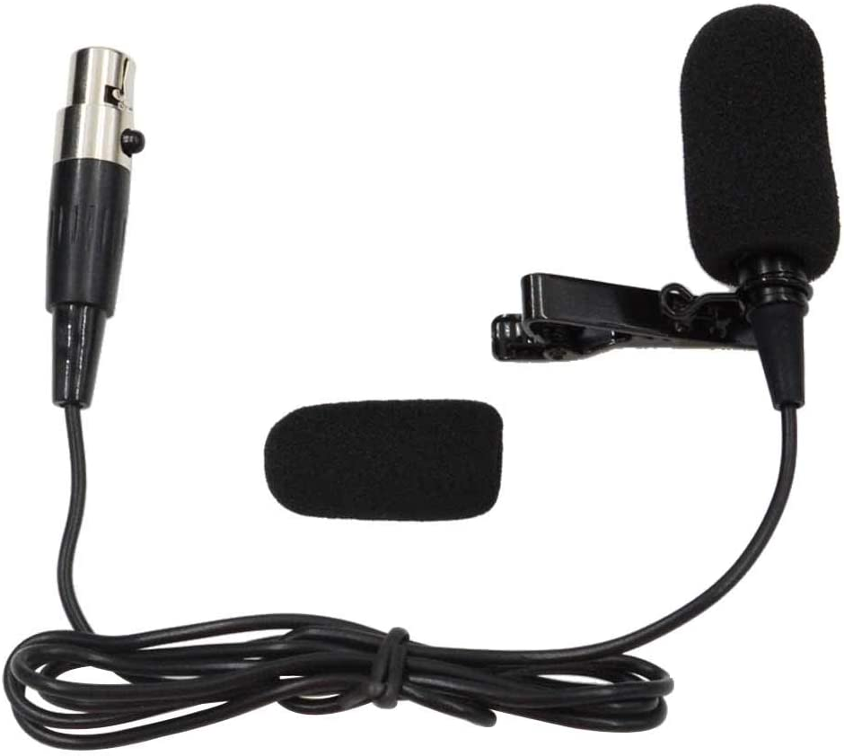 Mini XLR TA4F Connector BEKER Lapel Microphone Lavalier Microphone Unidirectional Condenser Microphone Compatible with Shure Wireless Transmitter for Shure Radio Mic Wireless bodypack Transmitter